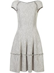 Talbot Runhof Flared Dress Nude Neutrals