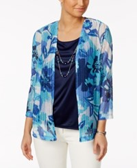 Alfred Dunner Layered Look Floral Print Top Multi