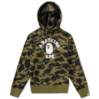 A Bathing Ape 1St Camo College Hoody Green