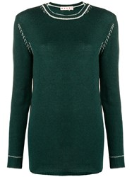 Marni Round Neck Knit Top Green