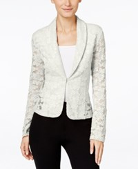 Inc International Concepts Lace Blazer Only At Macy's Washed White