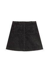 Isa Arfen Corduroy Mini Skirt Black