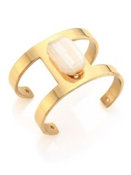 Taylor And Tessier Wire Fifty Chalcedony Cuff Bracelet Gold
