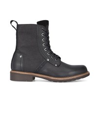 G Star Black Labour Goodyear Sole Dual Fabric Laced Boots