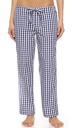 Sleepy Jones Gingham Marina Pajama Pants Navy