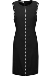Mcq By Alexander Mcqueen Studded Washed Twill Mini Dress Black
