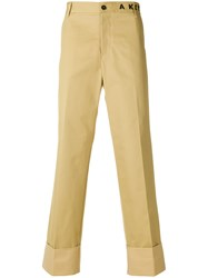 Maison Kitsune Regular Trousers Nude And Neutrals
