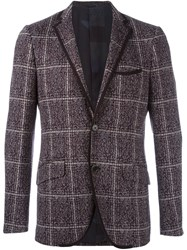 Etro Fine Knit Blazer Pink And Purple