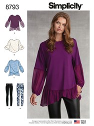 Simplicity 'S Tunic Top And Leggings Sewing Pattern 8793