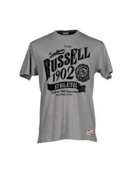 Russell Athletic T Shirts Brick Red