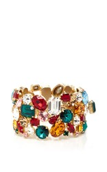 Dolce And Gabbana Multicolor Jeweled Bracelet Red Gold Blue
