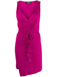 Dsquared2 Belted Waist Wrap Dress 60