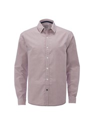 White Stuff Men's Heartland Stripe Long Sleeve Shirt Pink