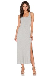 Dolan Tank Maxi Dress With Front Slit Gray