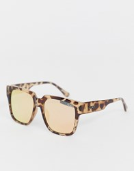 Quay Australia On The Prowl Oversized Square Sunglasses In Tort Brown