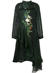 Preen By Thornton Bregazzi Floral And Snakeskin Print Dress Black