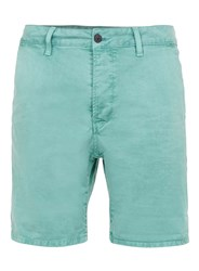 Topman Washed Mint Chino Shorts Blue