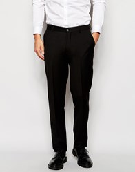 Vito Slim Suit Trousers With Stretch Black