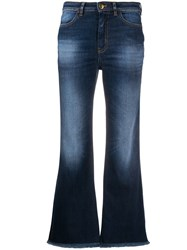 Pt05 Stonewashed Cropped Jeans Blue