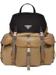 Prada Technical Fabric And Saffiano Leather Backpack 60