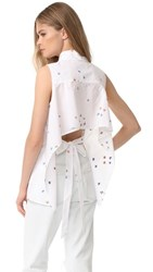 Milly Surfer Coupe Sleeveless Avery Top White