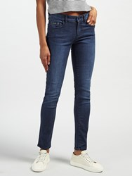 Calvin Klein High Rise Sculpted Skinny Jeans Dark Rinse