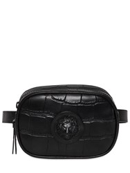 Versus By Versace Cocco Pattern Leather Belt Pack Black