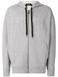 N 21 No21 Three Dimensional Logo Hoodie Grey