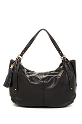 Sondra Roberts Nappa Leather Hobo Bag Black