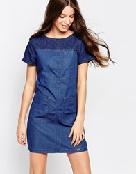 Bellfield Panelled Denim Dress Mud Wash
