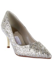 Rainbow Vita Metallic Court Shoes