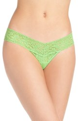 Hanky Panky Women's 'Signature Lace' Low Rise Thong Kiwi Green