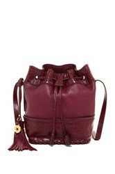 Isabella Fiore Dakota Leather Bucket Bag Red