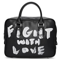 Comme Des Garcons Girl Black Faux Leather Hand Painted Bag