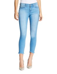 William Rast Skinny Fit Cropped Jeans Blue