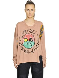 Vivienne Westwood Anglomania Climate Change Cotton Jersey T Shirt