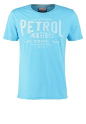 Petrol Industries Print Tshirt Norse Blue Light Blue