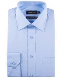 Double Two Men's 100 Cotton Poplin Shirt Glacier