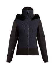 Fusalp Athena Quilted Panel Ski Jacket Navy Multi