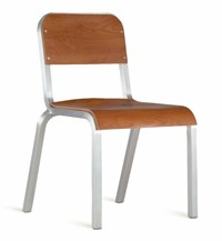 Emeco 1951 Stacking Chair Wood Brown