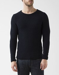 Knowledge Cotton Apparel Navy Blue Moss Pullover