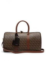 Burberry Tb Monogram Coated Canvas Holdall Brown