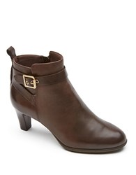 Rockport Melora Leather Ankle Boots Brown
