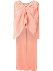 Christian Siriano Drop Back Cape Blouse Pink And Purple