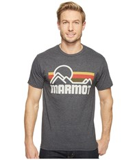 Marmot Coastal Tee S S New Charcoal Heather Men's Short Sleeve Pullover Black