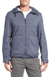 Surfside Supply Men's Comfy Quilted Zip Hoodie Navy Heather