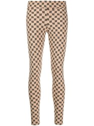 Misbhv Logo Print Leggings Neutrals