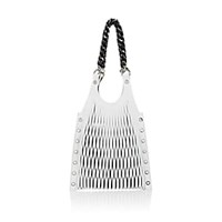 Sonia Rykiel Le Baltard Medium Leather Tote Bag White