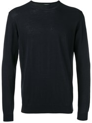 Roberto Collina Plain Sweatshirt Blue