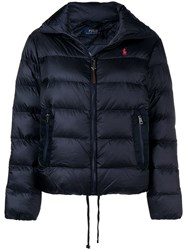 Polo Ralph Lauren Embroidered Down Jacket Blue